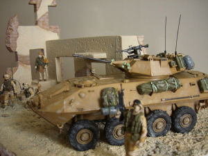 LAV-25 lateral diorama view