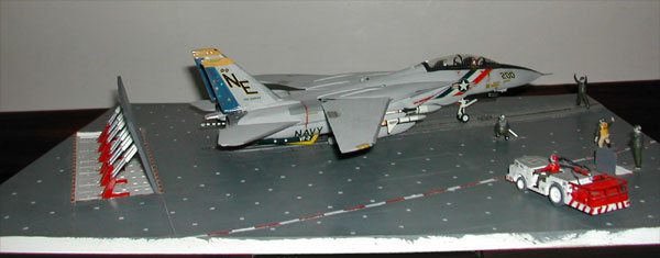 F14 Tomcat on carrier deck