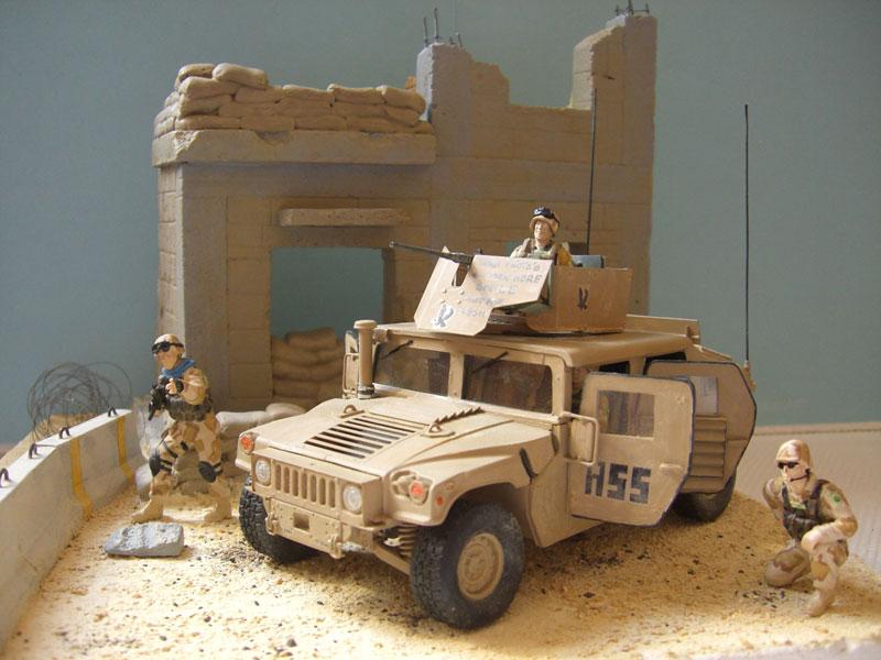 M1114 diorama