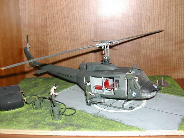 Bell Huey in Vietnam war