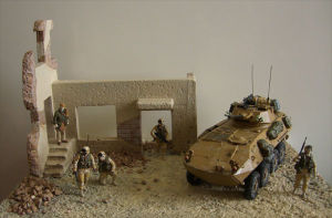 LAV-25 diorama full view