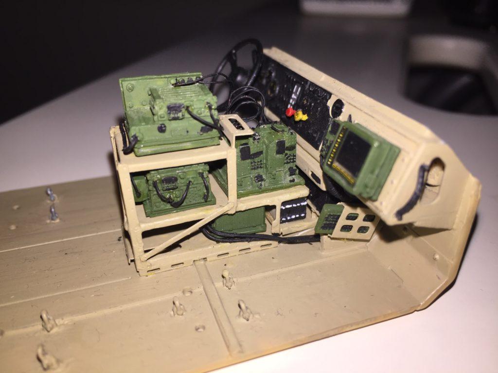 M-ATV radio rack with devices